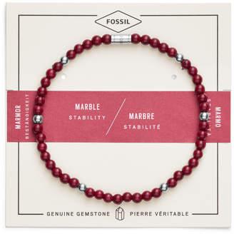 Fossil Red Marble Bracelet