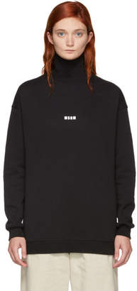 MSGM Black Mini Logo Turtleneck