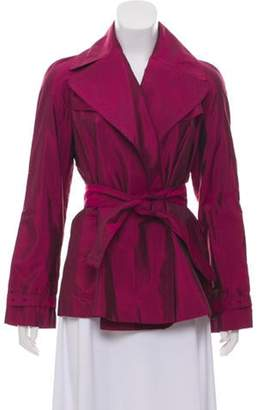 Burberry Silk-Blend Metallic Jacket Magenta Silk-Blend Metallic Jacket