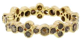 Couture Sethi Brown Diamond Bezel Cluster Band Ring