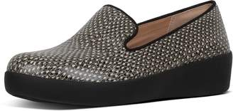 FitFlop Audrey Dotted-Snake Leather Loafers