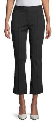 Diane von Furstenberg Mid-Rise Bootcut Cropped Pants