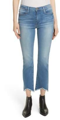 Frame Le High Straight High Waist Triangle Hem Jeans