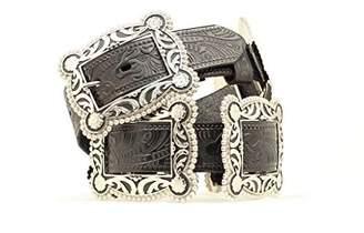 Nocona Women's Sliding Conchos Leather Hip Belt - N3484001multi