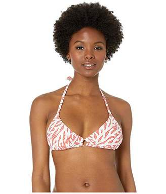 MICHAEL Michael Kors Triangle Bikini Top with Ring Trim and Removable Soft Cups
