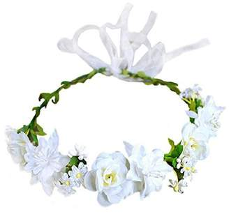 styling/ SIZSNM Flower Crown Floral Headpiece Wreath Girls Womens Roses Wedding Set