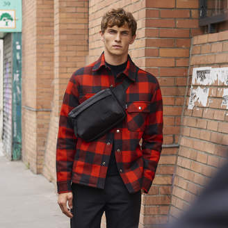 Sandro Checked jacket lined with faux sheepskin