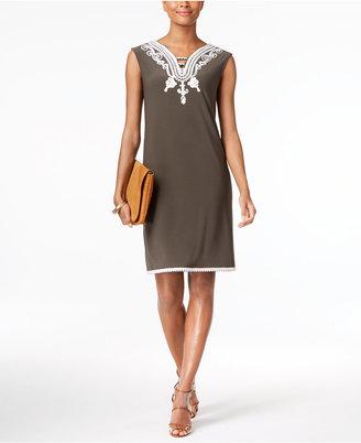 Alfani Soutache-Trim Shift Dress, Created for Macy's $89.50 thestylecure.com