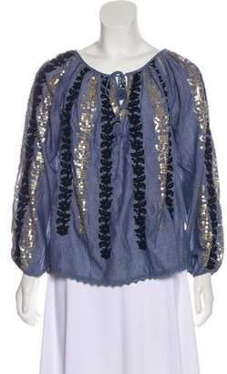 Calypso Embellished Long Sleeve top
