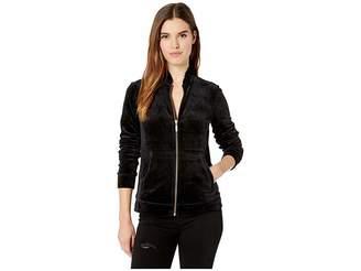 Lilly Pulitzer Jayla Velour Ruffle Zip-Up Jacket