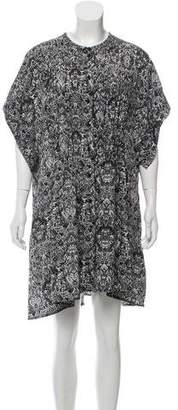 IRO Short Sleeve Printed Shirtdress