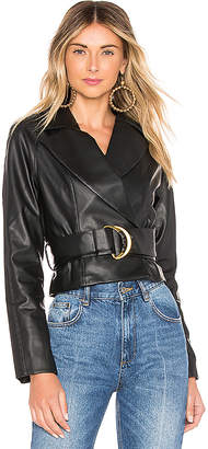 Tularosa Joan Faux Leather Jacket