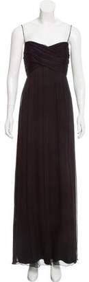 Amsale Ruched Chiffon Dress