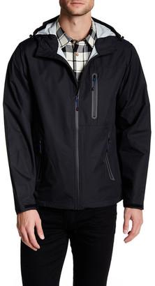 Hawke & Co. Tech Hooded Rain Jacket $150 thestylecure.com
