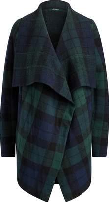 Ralph Lauren Plaid Shawl Sweater