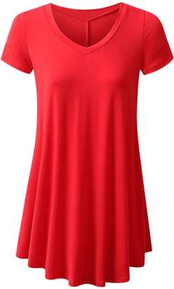 YMING Womens Swing Tunic Tops Loose Fit Comfy Flattering T Shirt XL