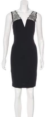 L'Agence Lace-Trimmed Mini Dress