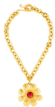 Karl Lagerfeld Flower Collar Necklace