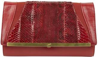 Khirma Eliazov Red Water snake Clutch Bag
