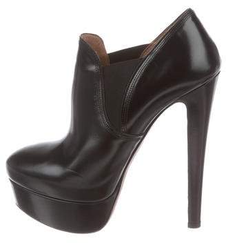 Alaia Platform Leather Ankle Booties