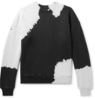 Amiri Oversized Distressed Tie-Dyed Loopback Cotton-Jersey Sweatshirt