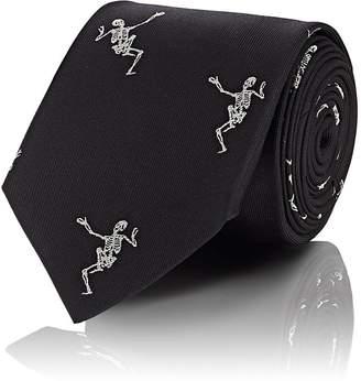 Alexander McQueen Men's Embroidered Silk Tie