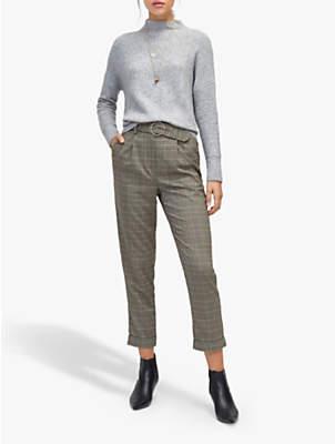 Warehouse Check Peg Trousers, Grey Pattern