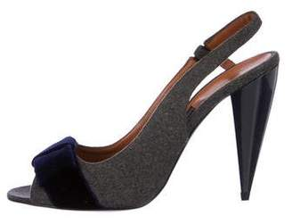 Lanvin Wool Slingback Pumps