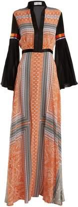 Amanda Wakeley Printed crepe de Chine maxi dress