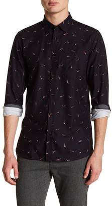 Ted Baker Poisson Mini Fish Print Trim Fit Shirt