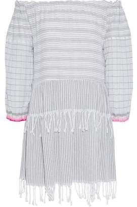 Lemlem Anan Off-The-Shoulder Striped Cotton-Blend Gauze Dress