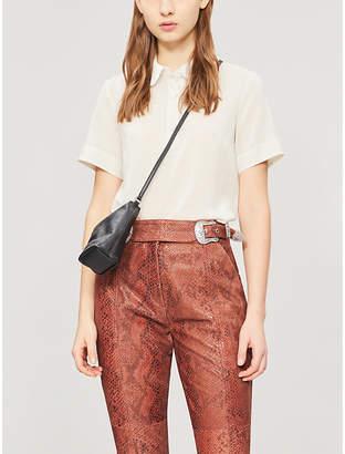 Claudie Pierlot Contrast collar woven T-shirt