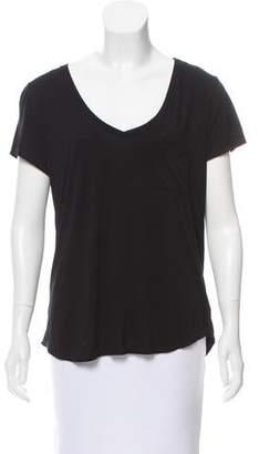 Paige Denim Short Sleeve V-Neck Top