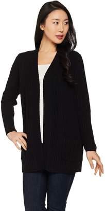 Susan Graver Cotton Acrylic Cardigan Sweater