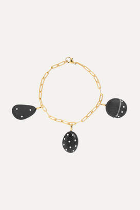 Cvc Stones 18-karat Gold, Stone, Diamond And Sapphire Bracelet - one size