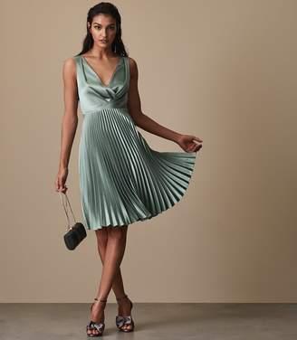 Reiss Alicia Knife-Pleat Midi Dress