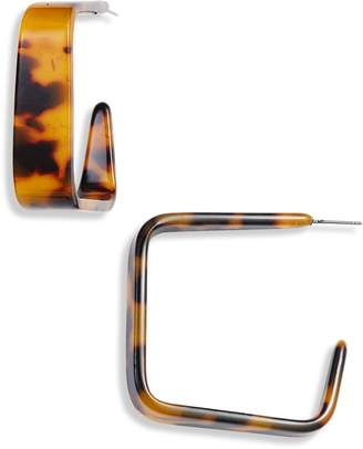 Halogen Resin Square Hoop Earrings