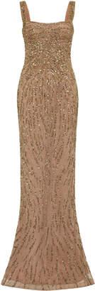 Rachel Gilbert Wanda Sequin-Embellished Georgette Gown