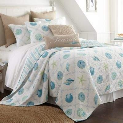 Levtex Home Seaglass Reversible Full/Queen Quilt Set in Blue