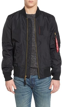 Men's Alpha Industries 'Skymaster' Lightweight Ma-1 Bomber Jacket $150 thestylecure.com