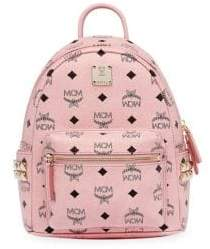 MCM Mini Stark Visetos Side Stud Backpack