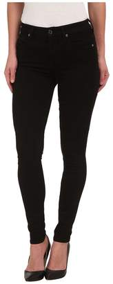 7 For All Mankind The Highwaist Skinny w/ Contour Waistband in Slim Illusion Luxe Black Women's Clothing
