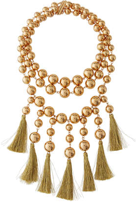 Lydell NYC Statement Tassel Necklace
