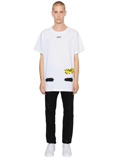 Spray Stripes Cotton Jersey T-Shirt 2