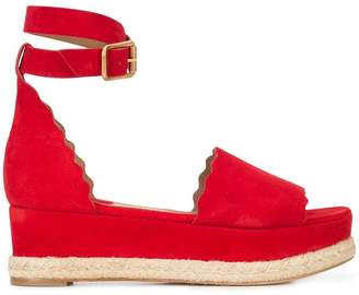 Chloé Lauren wedge sandals