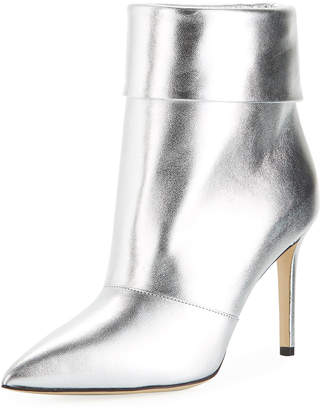 Paul Andrew Banner Metallic Ankle Booties