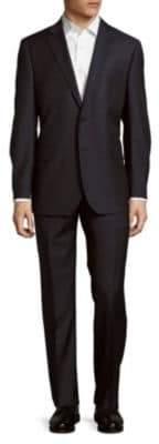 Classic-Fit Wool Herringbone Stripe Suit