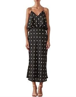 Shona Joy Avery Frill Midi Dress