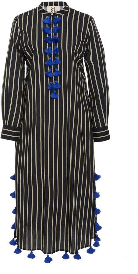 Figue Paolina striped cotton kaftan
