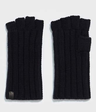 AllSaints Ribbed Cut Off Fingerless Gloves